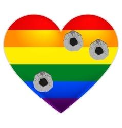 Rainbow flag gay LGBT flag heart Rainbow heart vector image vector image
