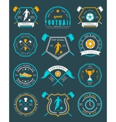 Set of Football Badge and Logo vector image vector image