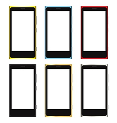smartphone white screen template vector image vector image