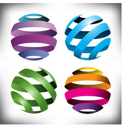 spheres globes vector image