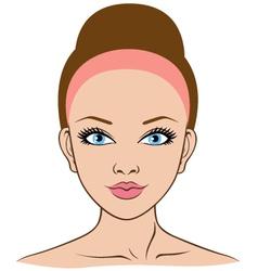 woman face closeup vector image vector image