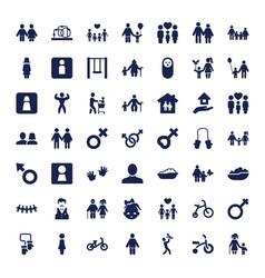 49 boy icons vector