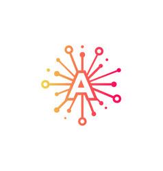 A share letter logo icon design vector
