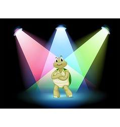 A turtle standing at the stage vector