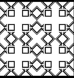 Abstract art deco black geometric ornamental vector