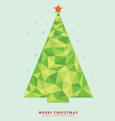 Abstract Christmas tree from crystal graph vector image vector image
