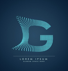 Abstract creative dots logo letter G vector