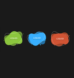 abstract liquid banners vector image