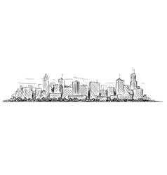 artistic drawing sketch of generic city high rise vector image