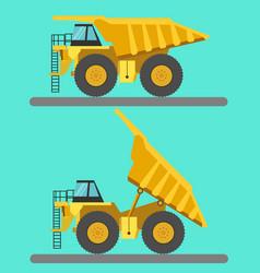 Big mining truck vector