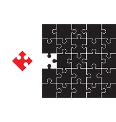 Broken jigsaw vector
