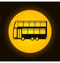 bus icon over circle isolated design vector image