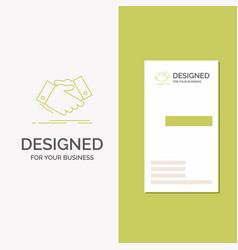 business logo for handshake hand shake shaking vector image