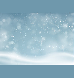 Christmas winter snowy landscape background vector