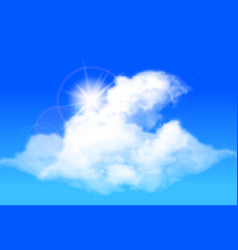 clouds against a bright blue sky vector image