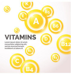Colourful vitamin background vector