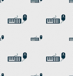 Computer keyboard and mouse Icon Seamless abstract vector image