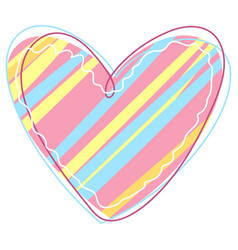 decorative patterned heart vector image