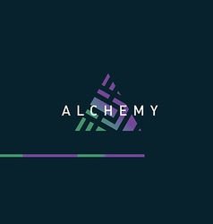 Development of a linear gradient logo on alchemy vector