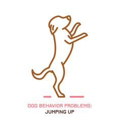 Dog bad behavior icon vector