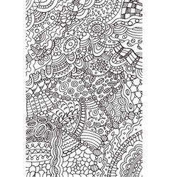 Doodle coloring page for adults background vector