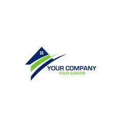 e home logo design vector image