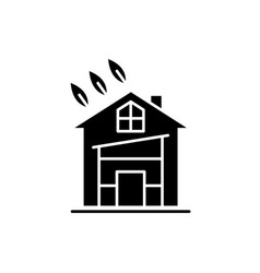 eco house black icon sign on isolated vector image