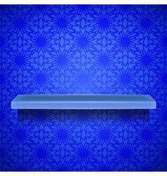 Emty Blue Shelf vector