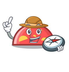 explorer semicircle mascot cartoon style vector image