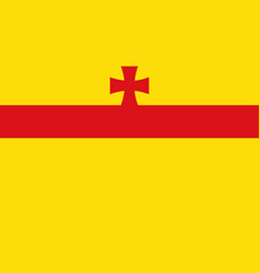 Flag of meppen in emsland of lower saxony germany vector