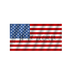 flag usa with text american flag american isolated vector image