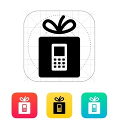 Gift phone icon vector image