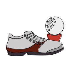 golf shoe accessory with ball vector image