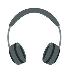 grey headphones flat style vector image