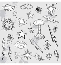 hand drawn graffiti vector image