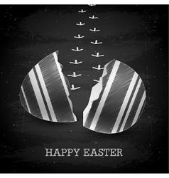 Happy Easter background - Chalkboard vector