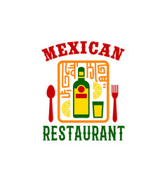icon for mexican food restaurant menu vector image