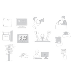 information facilities icon set vector image