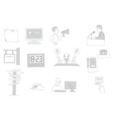 Information facilities icon set vector
