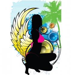 island goddess vector image