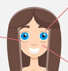 laser peeling vector image