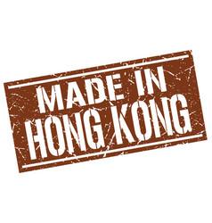 Made in hong kong stamp vector