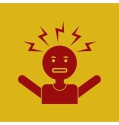 Man headache vector