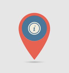 map pin information desk vector image