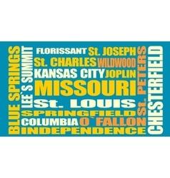 Missouri state cities list vector