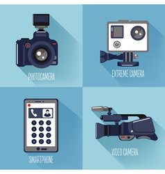Modern Technologies Professional Photo and Video vector image