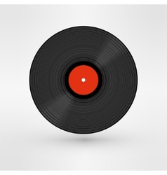 Old retro black record LP eps10 art vector