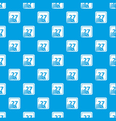 page calendar pattern seamless blue vector image