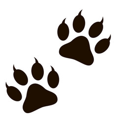 paw sign icon vector image