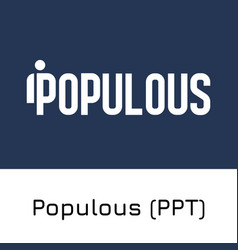 Populous ppt crypto coin i vector